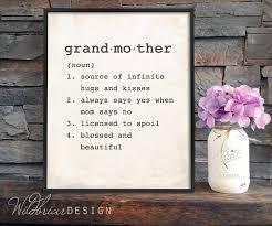 printable wall art grandmother dictionary definition