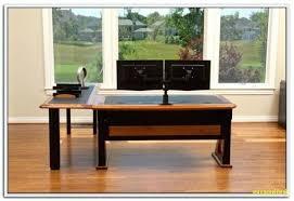 computer desk for 2 monitors computer desk for two monitors 3 computer desk for two monitors