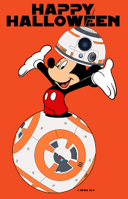 happy halloween from bb8 dressed as mickey mouse by halhefnerart