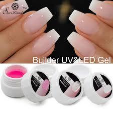 White Pink Nail Saviland 1pcs Pink White Clear Uv Builder Gel Nails