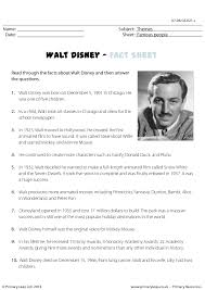 disney reading comprehension