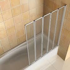4 folds and 5 folds chrome folding bath shower screen glass panel