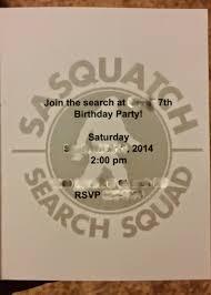 birthday party rsvp coastal mom creations bigfoot birthday party