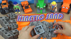 kinetic sand building a house fun house break cool toy for