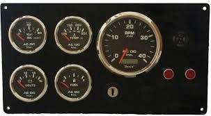 lehman power diesel marine engine instrument panel black gauges