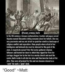 creepy facts in the 4th century a mathematician and