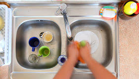 Cleaning Kitchen Sink by Homework Cleaning Of The Kitchen Sink Stock Photo Image 50283635