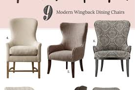 charlie modern wingback dining chair dining chair set of 2 tufted