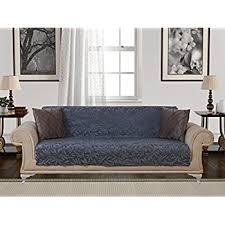 Slipcover For Leather Sofa by Amazon Com Anti Slip Armless 1 Piece Sofa Throw Slipcover For