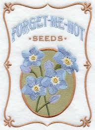 forget me not seed packets machine embroidery designs at embroidery library embroidery library