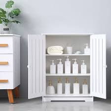 kitchen storage cabinets with doors and shelves bathroom storage cabinet waterproof kitchen storage cabinet stylish white pantry cabinet upgraded pvc bathroom cabinet organizer w 2 doors 3 tier