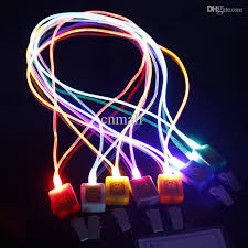 discount led novelty lighting led lanyard light led fiber optic