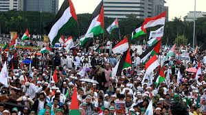 World National Flags With Names Tens Of Thousands Protest In Indonesia Against Us Jerusalem Move