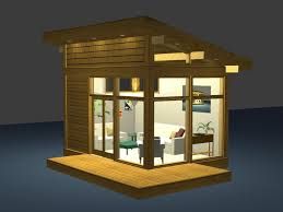 tiny modern home eco friendly modern studio kit by lindal cedar homes inhabitat