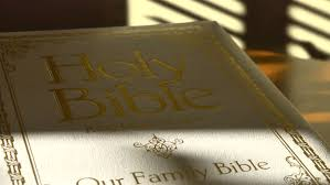 Blind Bible Holy Bible As Time Lapsed Shadows From A Window Blind Pass Over
