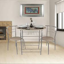 foxhunter dining table breakfast bar 2 chair set metal mdf kitchen
