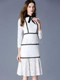 lace white dress mermaid long sleeve women u0027s summer sheath dress