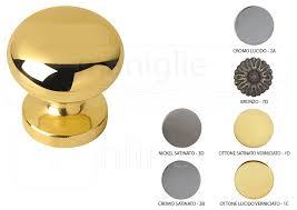pomelli per porte per porta in ottone vienna fisso diametro 64 mm