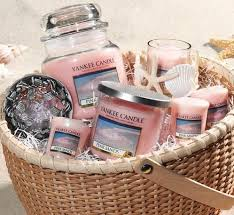 candle gift baskets yankee candle pink sands best smell inspiration