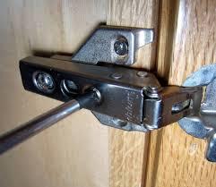 door hinges installing spring loaded cabinet door