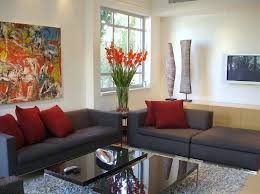 red color schemes for living rooms living room furniture with flowers and red cushions jpg living