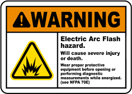 nfpa 70e arc flash table warning electric arc flash hazard label j5519 by safetysign com