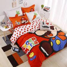 Mario Bedding Set 100 Cotton Mario Bedding Set Duvet Cover Flat Sheet