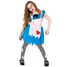childrens alice in zombieland horror fancy dress up party