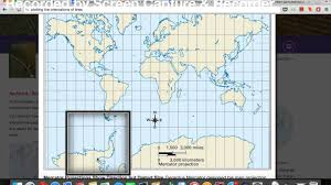 Peters Projection Map Map Projections And Distortion Youtube