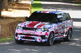 racing land rover range rover sport svr in action auto express