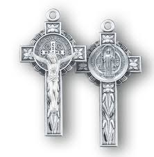 st benedict crucifix benedict jubilee sterling silver medal crucifix hmh religious