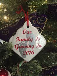 personalized pregnancy announcement ornament granparents to be