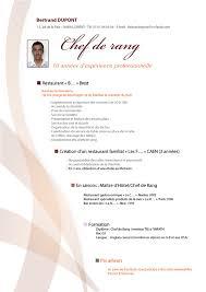 exemple de cv commis de cuisine exemple cv chef de rang cv restauration cv original