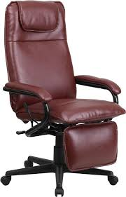 Office Chair Recliner Design Ideas Flash Furniture High Back Burgundy Leather Executive Reclining