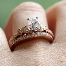 Rose Gold Wedding Ring Sets by Glamorous Gold Wedding And Engagement Ring Sets 52 In Interior