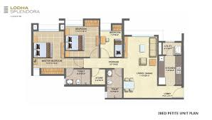 lodha splendora master plans floor u0026 unit plans for 1 2 3 bhk