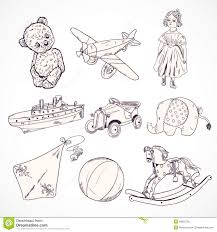 toys sketch icons set stock vector image 39850736