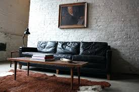 Mid Century Modern Leather Sofa Century Leather Furniture Mid Century Tufted Black Leather Sofa 1