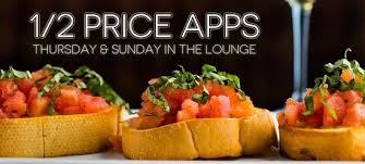 half price appetizers thursday sunday picture of sarento s