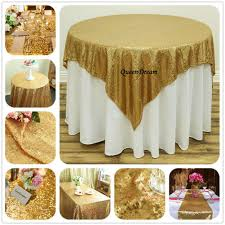 Plastic Fitted Tablecloths Online Get Cheap Gold Round Tablecloths Aliexpress Com Alibaba