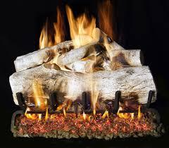 white birch gas fireplace logs decoration idea luxury marvelous