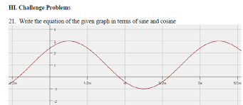 graphing sine cosine with phase shifts worksheet with answers