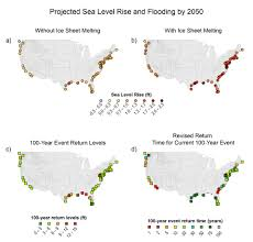 Sea Level Map Usa by Coasts National Climate Assessment