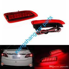 2011 toyota corolla brake light bulb 2018 sepcial red rear bumper reflector lights dc12v tail light