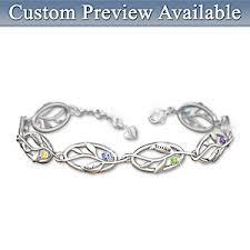 bracelets with birthstones womens bracelet family of personalized bracelet