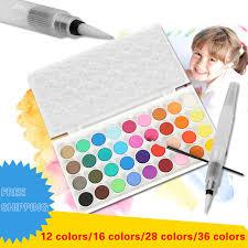 aliexpress com buy aquarelle 12 16 28 36 set colors portable