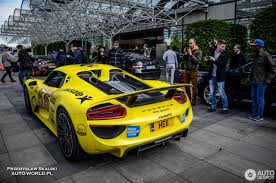 porsche spyder yellow porsche 918 spyder 5 june 2016 autogespot