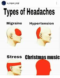 Christmas Music Meme - a rogue yogi types of headaches migraine hypertension stress