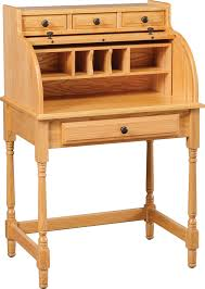 Small Oak Writing Desk by Carlisle Oak Student Rolltop Desks