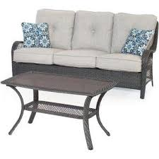 Grey Wicker Patio Furniture by 2 3 Person Gray Patio Conversation Sets Outdoor Lounge